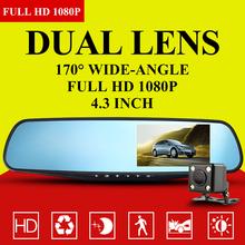 Full HD 1080 P новатэк автомобильный Dvr синий зеркало заднего вида цифровой видеорегистратор авто навигатор 170 град. широкий угол 96650