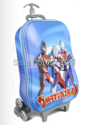 3D EVA Kids trolley bags cartoon design flame chariots luggage school BAG 05 - Merry Weather Store store