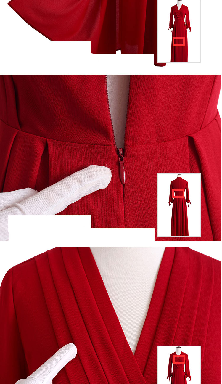 JRQIOT 2016 Women Autumn Red V-neck High waist Slim Party Dresses Christmas Bodycon Long Bandage Dress Kerst Jurk Dames