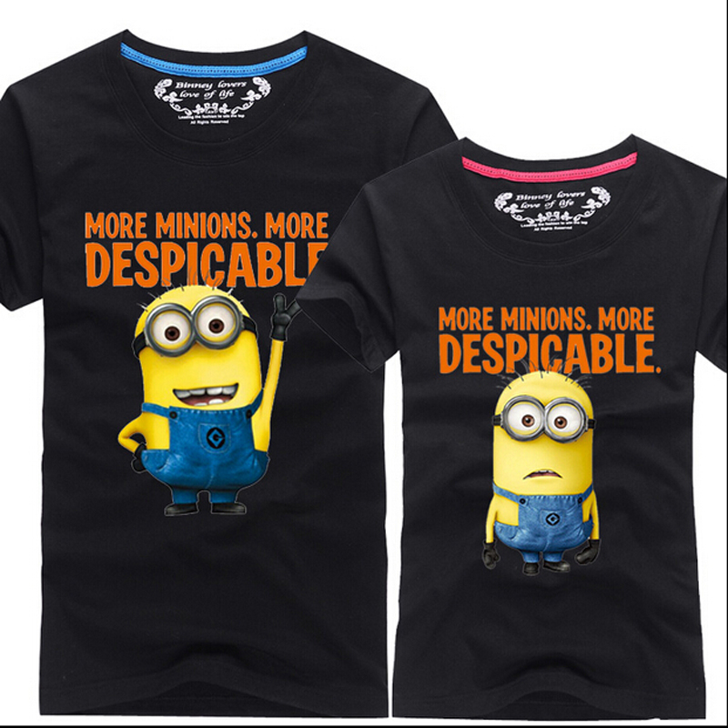 2016 Summer New Despicable Me 2 Minions T Shirt Lovers Clothes O Neck Short Sleeve Matching