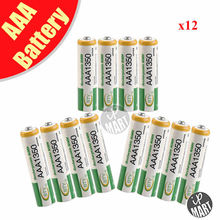 BTY AAA 1350 Rechargeable Ni-MH Battery for LED Flashlight/Toy/PDA – green 12PCS/Lot
