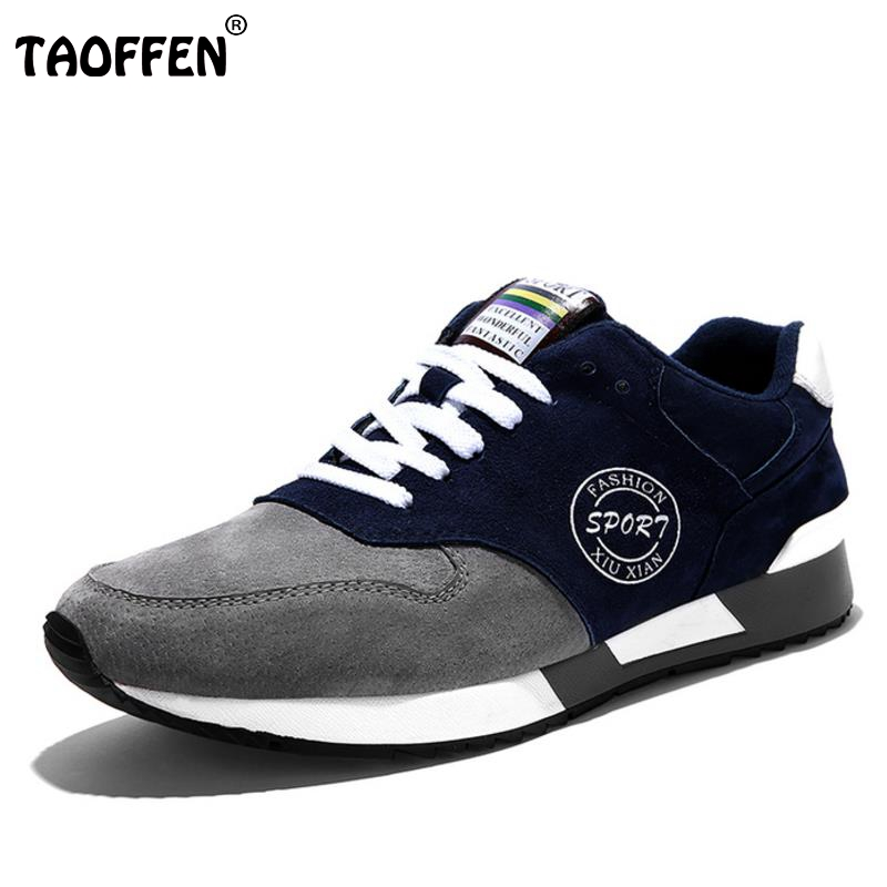 Men Outdoor Shoes High Quality Lace Up Trainers Men Casual Comfortable Suede Breathable Rubber Bottom Walking Jogging Men Shoes