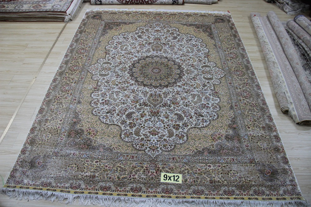 Oriental carpet shag rug for home handmade rug persian for Living room rugs 9x12