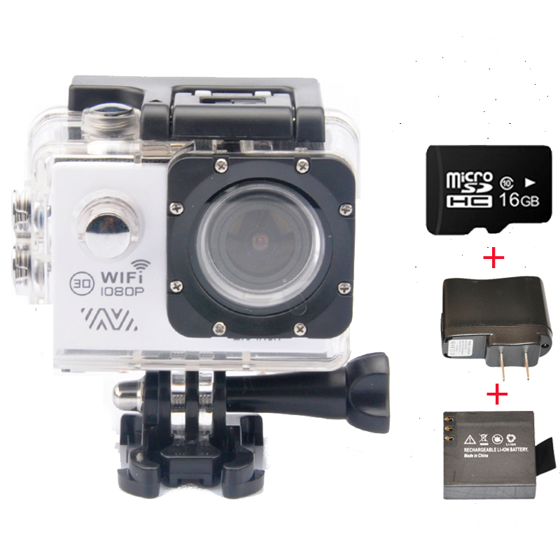 Full HD 1080P 30FPS With WiFi 2.0 LCD Screen Sport Action Camera + Extra Charger + Battery + 16GB Class10 Micro SD Card<br><br>Aliexpress