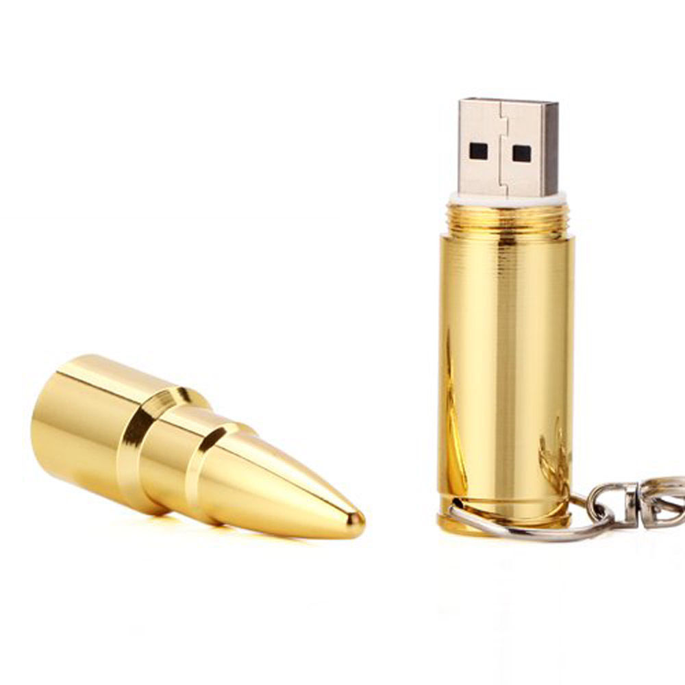 8GB 16GB 32GB 64GB Bullet Shaped Silver Metal Jewelry Necklace USB Flash Drive Thumb Drive Memory Drive Data Storage(China (Mainland))