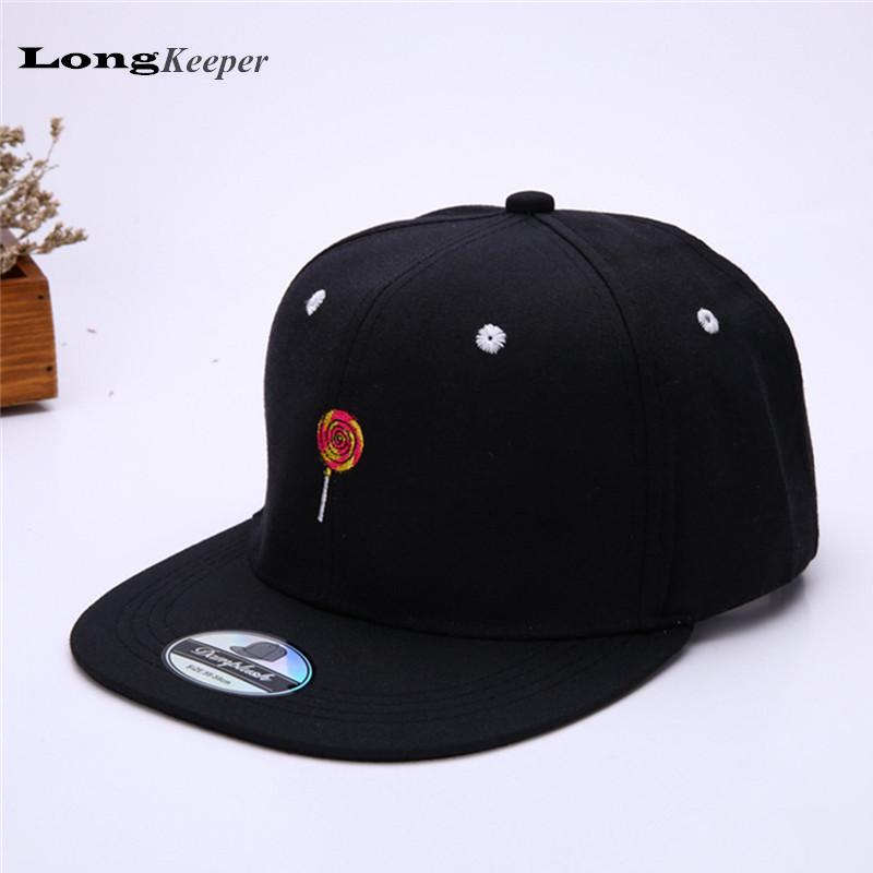 New Snapback for Women Spring Baseball Cap Cotton Caps Casual icecream Candy Pattern Hat Fashion Snapback gorras beisbol B064(China (Mainland))