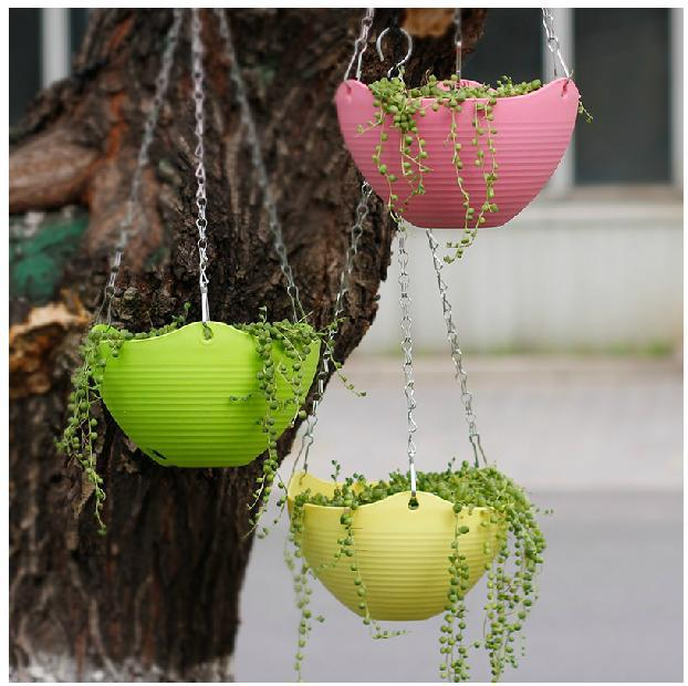 Decorative Hanging Flower Baskets : Aliexpress buy plastic resin thickening bracketplant