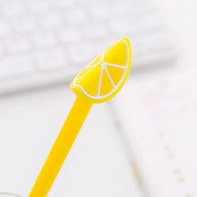 Mignon Dragon Kiwi citron Fruit Gel stylo belle papeterie matériel bureau Kawaii adulte enfants cadeau noir bleu encre marchandises magasin chose(China)