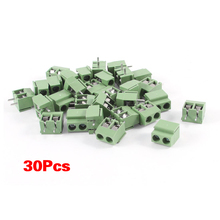 Buy New Style Gino 30Pcs 2 Pole 5mm Pitch PCB Mount Screw Terminal Block 8A 250V for $1.34 in AliExpress store