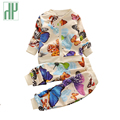 HH Fall Baby girl clothes two piece set children clothing set toddler girl Colorful butterfly suit