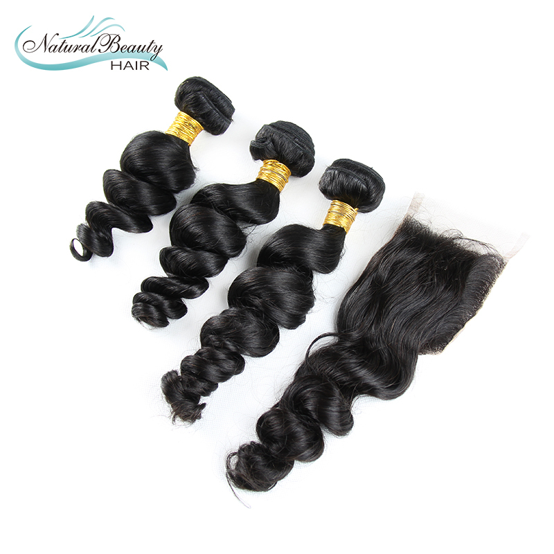 Mongolian Virgin Hair Loose Wave 100% 6A unprocessed Certified Human Hair Weaves for sale Shed &amp; Tangle Free 3pcs with closure <br>
