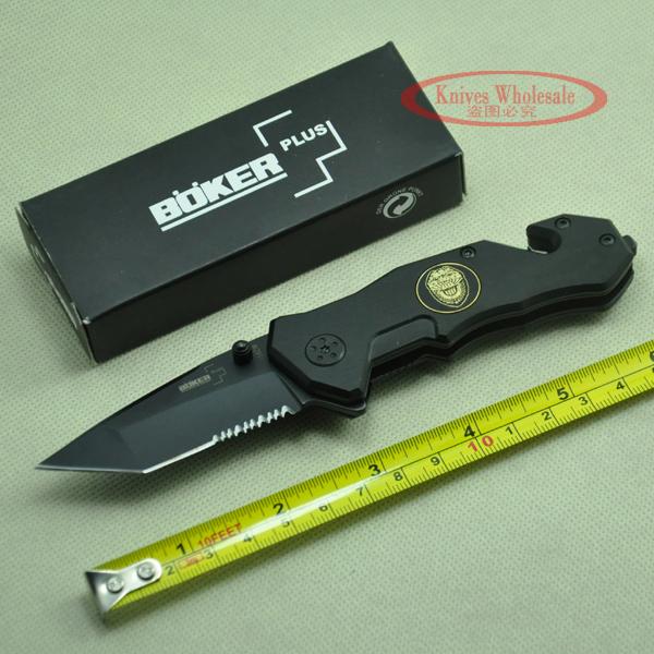 boker Tactical Folding Survival Knife,Pocket knife 56HRC 440 camping knives hunting knives Best Gift Free Shipping 097(China (Mainland))