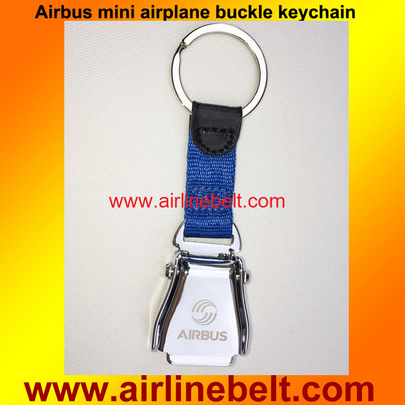 Top classic mini airplane airline seat belt buckle keychain keyring car keyholder Airbus logo aircraft buckle key ring(China (Mainland))
