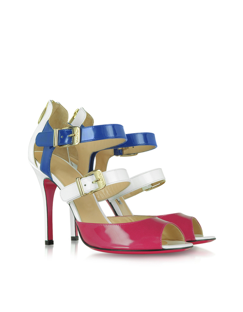 new arrive hoesteeing fashion  patent leather  high heel 12cm Cingulate  Dual buckle women  Sandals  Mixed colors party   shoes