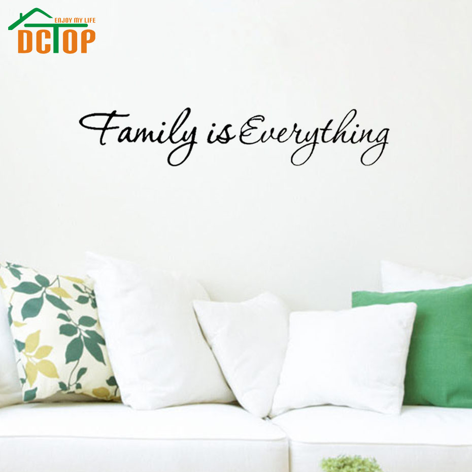 Family Is Everything Wall Stickers Inspiring Words Vinyl Wall Decals Home Decor Adhesive Stickers(China (Mainland))