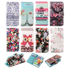 S4 Cases Fashion Pattern Magnetic Flip PU Leather Phone Case for Samsung Galaxy S4 I9500 SIV Card Slot Wallet Holster Cover Bag(China (Mainland))