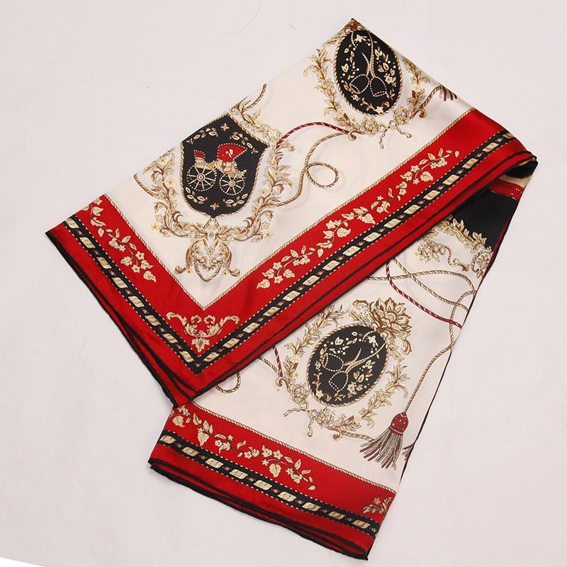 Women 90 * 90CM Square Natural Pure Silk Handmade Satin Shawls Vintage Carriage Planting Scarf Shawls Scarves Hijabs(China (Mainland))