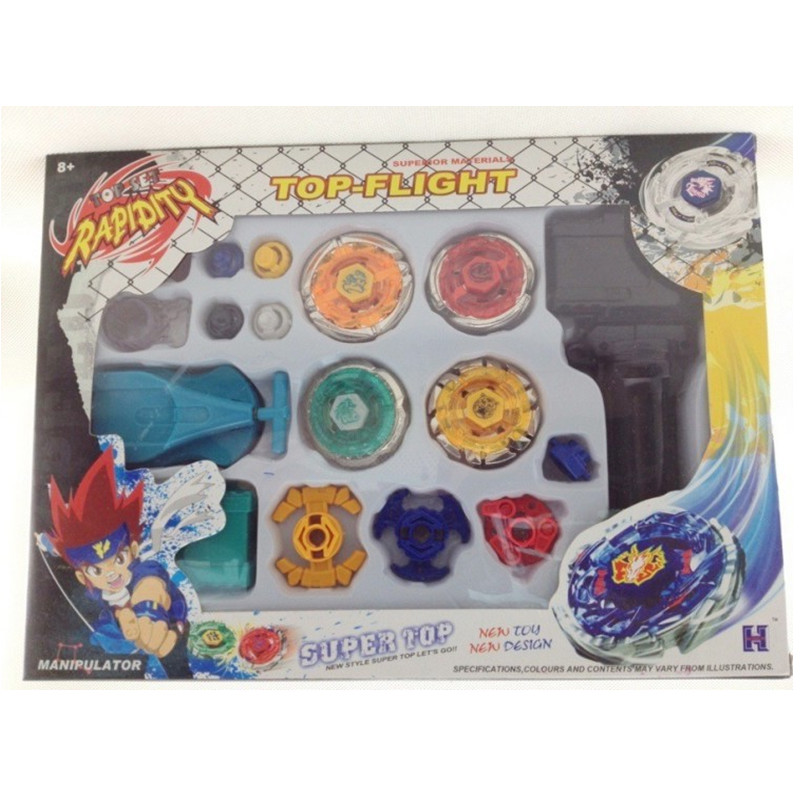1set New Metal Beyblade Set Spinning Top Toys Rapidity Metal Fusion Fight Lacuncher Master Rare Toy Classic Toys For Kids S30(China (Mainland))