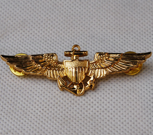 WW2 US NAVAL AVIATORS METAL WINGS BADGE PIN - 32138<br><br>Aliexpress