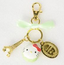 Kc16 novo clássico dos desenhos animados bonitos hello kitty chave chaveiro cadeia anel chave chave titular saco laduree macaron encantos do carro chaveiros presentes(China)