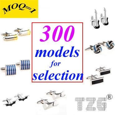 Mix From 300 Best Selling Models (MOQ=1) Stainless Steel Cufflink Cuff Link Free Shipping Promotion(China (Mainland))