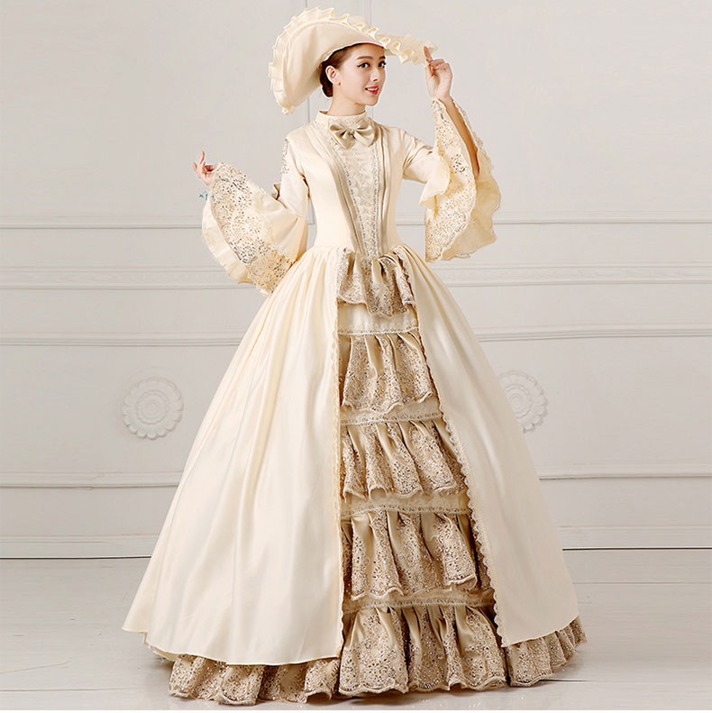 2016 European Court Dress 18th Century Queen Victorian Dresses Ball Gowns For Ladies Halloween Cosplay Costume(China (Mainland))