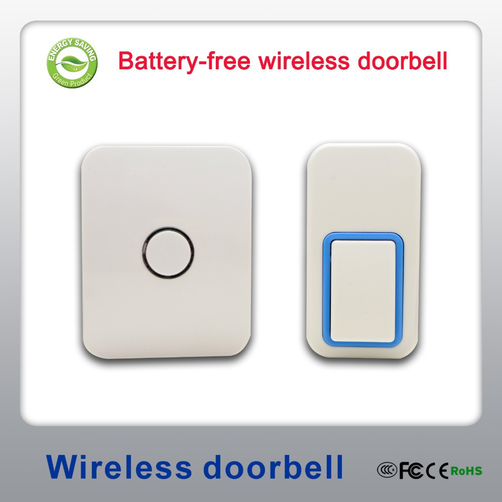 No need batteries and cables Batteryless RF wireless door bell with 25 ringtones IP44 waterproof 200m working range(China (Mainland))
