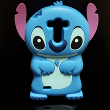 Cute 3D Cartoon Stich Soft Silicone Back Cover Lilo Stitch Case LG G3 Mini G3S S D722 D725 D728 D724 - International Fashion Goods Stores store