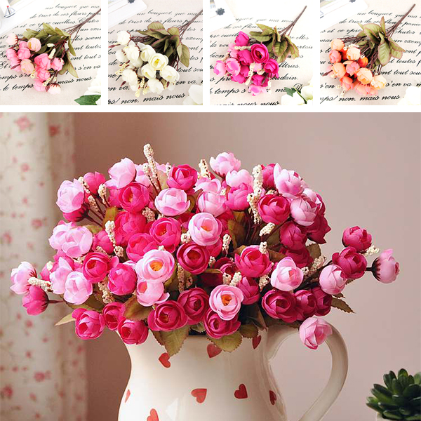 Wedding Bouquets Lotus Flower : Artificial red rose silk flowers flower heads camellia