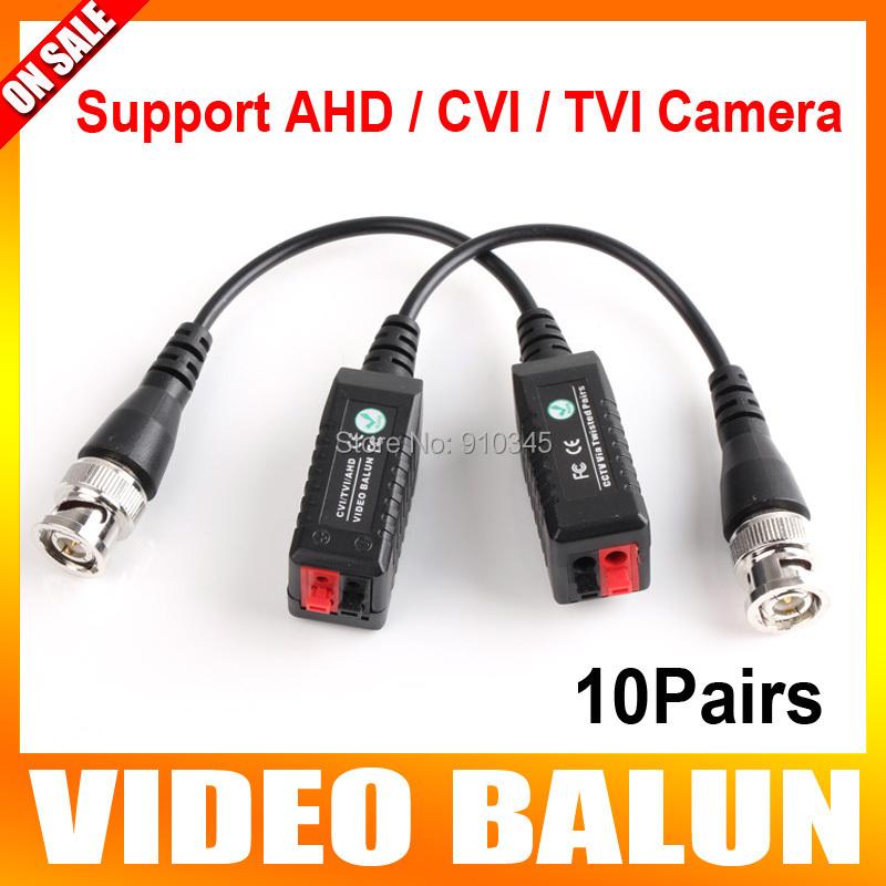 10Pairs 250M range for HD CVI/AHD/TVI Twisted BNC CCTV Video Balun Passive Transceivers UTP Balun BNC Cat5 CCTV UTP Video Balun(China (Mainland))