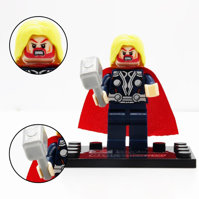 1PCS Thor MiniFigures Building Block Toy Avengers MARVEL.DC Super Heroes<br><br>Aliexpress