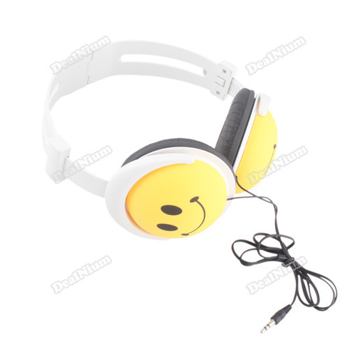 Fancy! beststore Yellow Face Stereo Earphone Headphone 4 MP3 MP4 PC Worldwide free shipping Five stars(China (Mainland))
