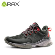 RAX outdoor winter hiking shoes men Genuine leather skid waterproof hiking shoes Climbing Shoes Size 39-44 2 colors A568