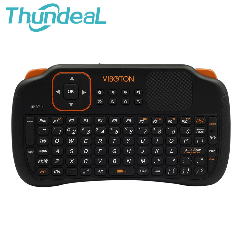 Viboton S1 Mini Wireless Keyboard 2.4Ghz Touchpad Handheld Battery for Windows PC Laptop Android OTG TV Tablet Projector(China (Mainland))