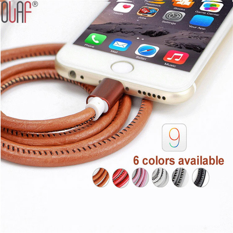 2016 Super Strong 1M Leather Metal Plug Micro USB Cable for Samsung Galaxy For Lightning Cable for iPhone 6 6S Plus 5S iPad mini(China (Mainland))