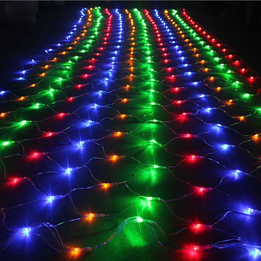 Фотография AC 220V 40W 6*4M 672-LED String Lights Net Lights with EU-plug for Garden / Room / Holiday / Christmas Decoration
