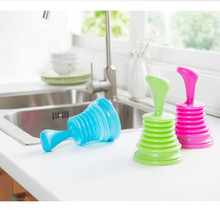 Toilet Plungers Pipeline Dredger Household Sewer Suction Plug Kitchen Rubber Family necessary Drain cleaner Dredger(China (Mainland))
