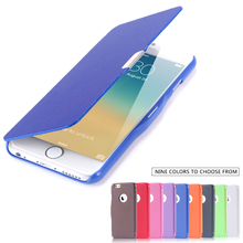 Two Size Lexury Fabric leather case For Iphone 6 Plus 5.5 Cover Flip Protective Skin With Magnetic Buckle Cover for iphon6 4.7'(China (Mainland))