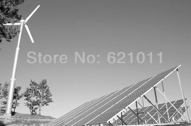 6KW solar- wind hybrid system, 4kw solar and 2kw wind turbine, home energy system best for good sunshine and rich wind area