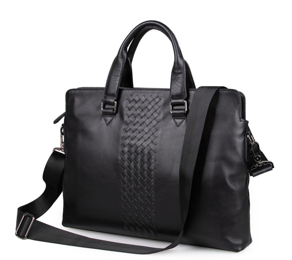 Male briefcase bags made of genuine leather shoulder bag Japanese Korean fashion men's business handbags man messenger bag 7295