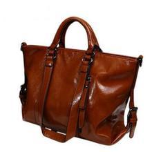 2015 women leather handbag Genuine leather women handbag british style shoulder bag crossbody women messenger bags tote Q9 F235(China (Mainland))