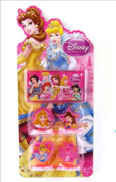 new 12 sets Wholesale princess Seal set toys children Christmas presents 4 design K9(China (Mainland))