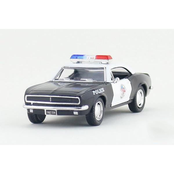 Children Kids Kinsmart 1967 Chevrolet Camaro Z28 Police Model Car 1:37 KT5341P 5inch Diecast Metal Alloy Cars Toy Pull Back Gift(China (Mainland))