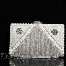 Tassel Pearl Crystal Women Evening Bag Day Clutch Handbags Hard Case Beaded Lady's Cosmetic Box Bags Small Purse Shoulder Bags(China (Mainland))