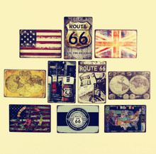 Buy American Rural Style Retro Creative American Flag Route 66 Tin Sign Wall Metal Painting ART Bar Home Decor 20*30CM for $7.47 in AliExpress store