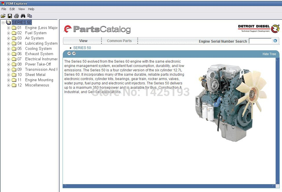 Detroit Diesel Parts Catalog for Series 8.2L,50, 55,60, 2000,4000(China (Mainland))