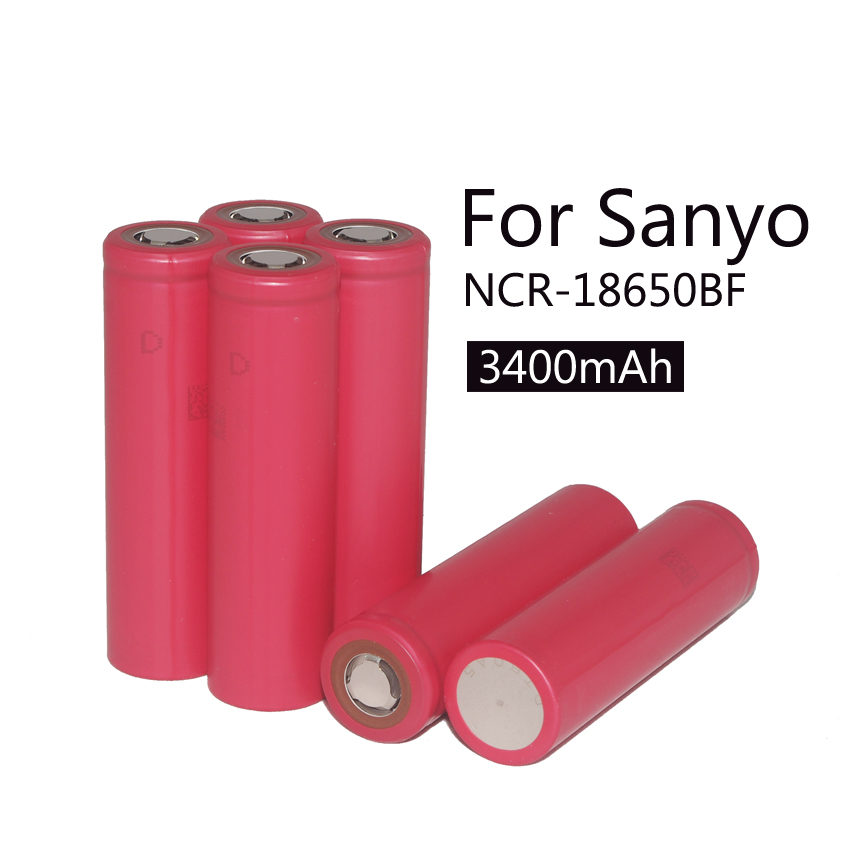 / lot New Original Sanyo 18650 3.7V 3400 mah battery rechargeable batteries NCR18650BF safe industrial use