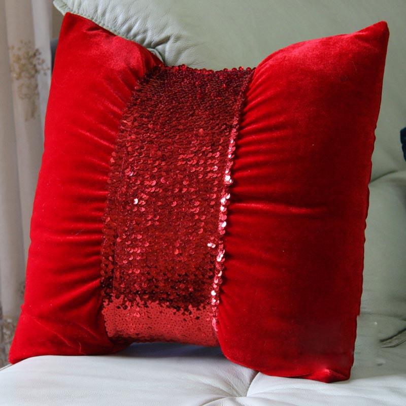Круглые подушки из бархата своими руками