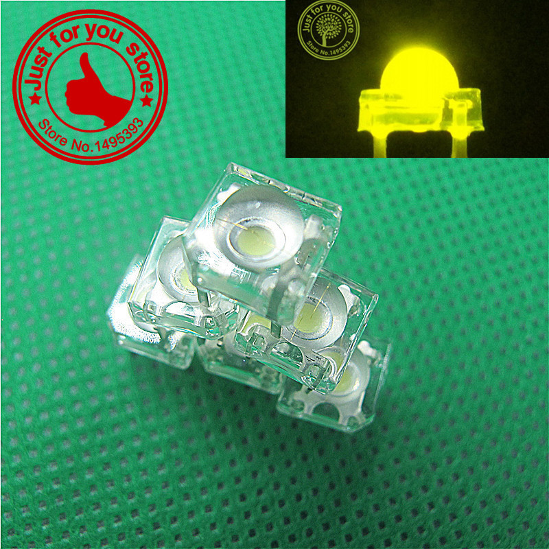 100pcs/lots yellow 5mm water Clear Piranha LED Dome Super Flux Car Light 4 pin Wide Angle Super Bright Light Lamp(China (Mainland))