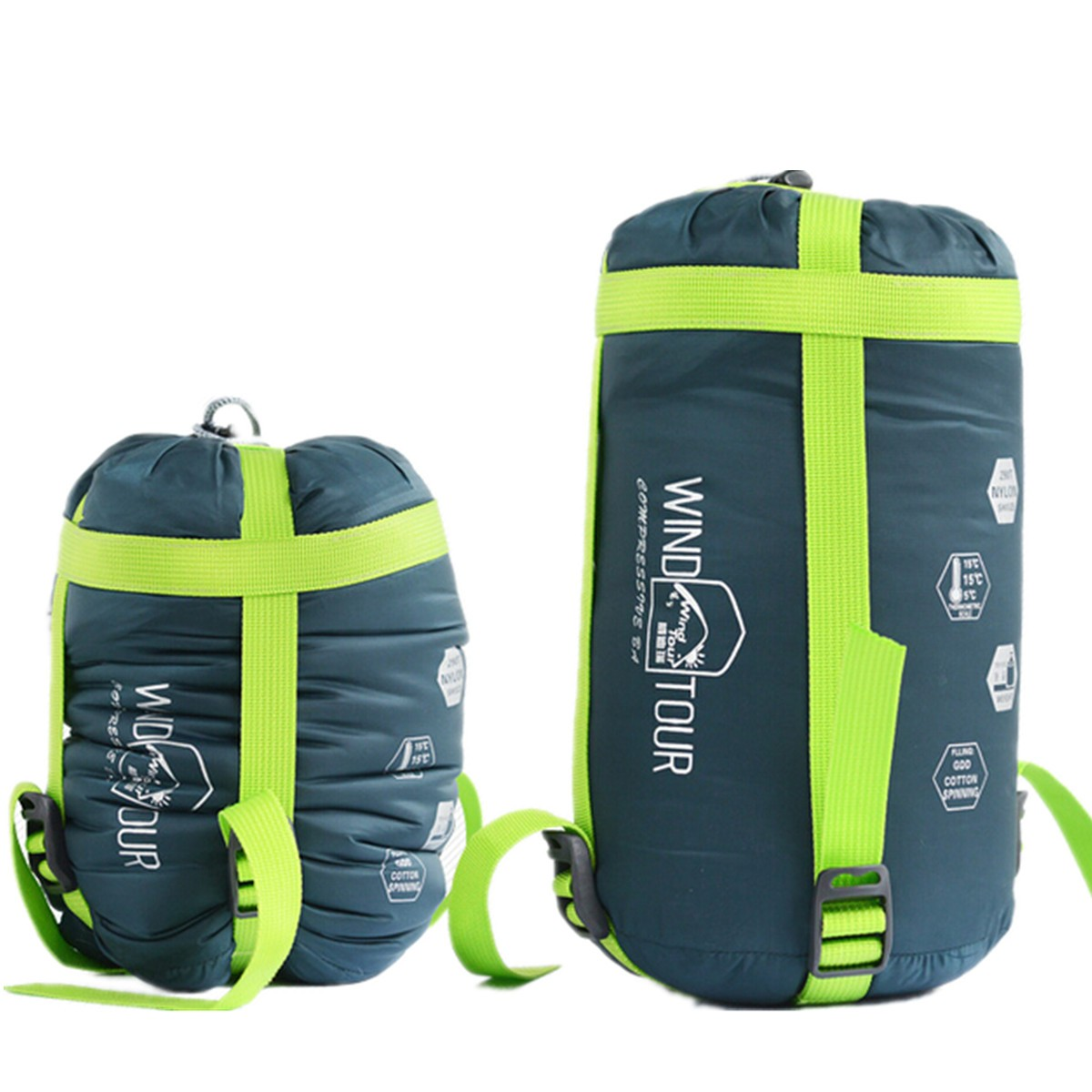 Hot Sale Ultralight Nylon Portable spring autum Outdoor Travel Camping Hiking Envelope Sleeping Bags with Compression